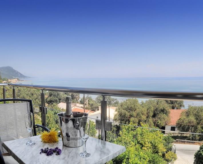 View from studio balcony